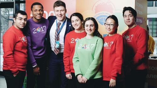 Волонтеры университета участвуют в подготовке Всемирного фестиваля молодёжи и студентов 2017