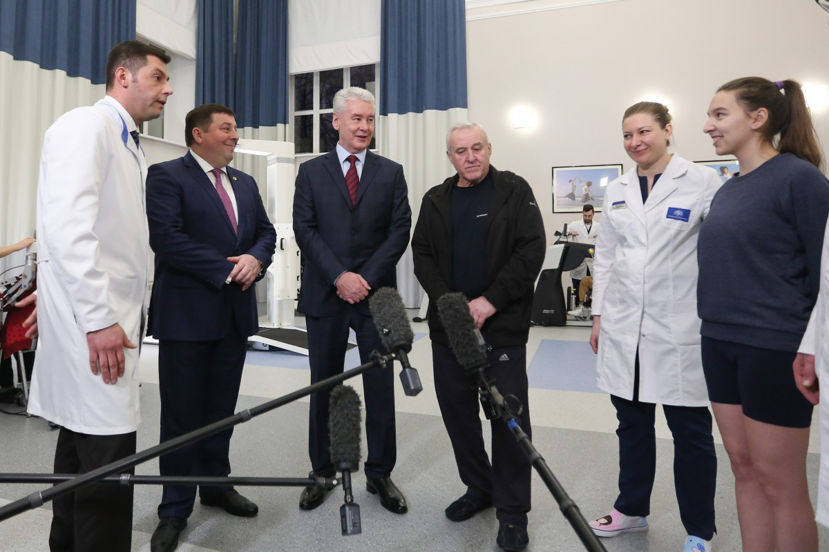 Мэр Москвы Сергей Собянин посетил центр реабилитации университета