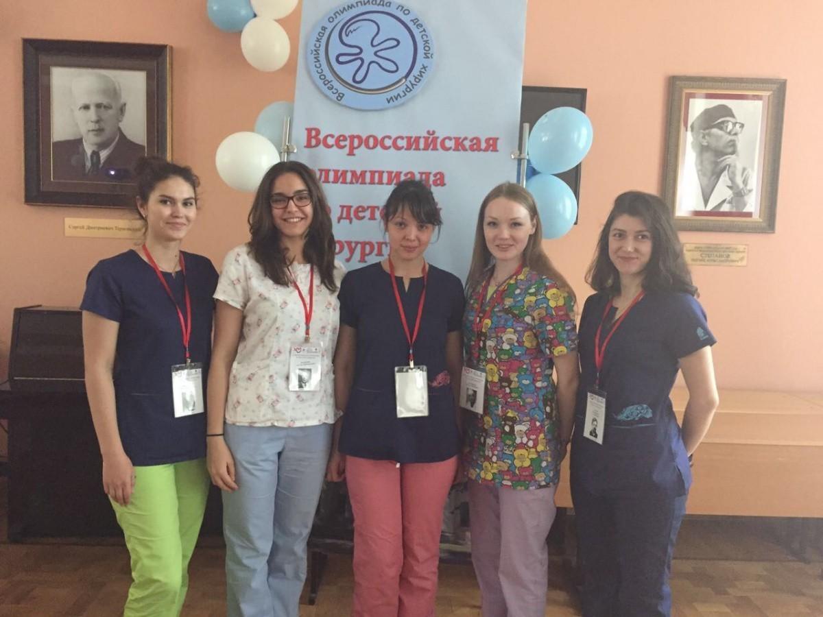 Студенты Школы мастерства «Детская хирургия» призеры IV Всероссийской Олимпиады по детской хирургии