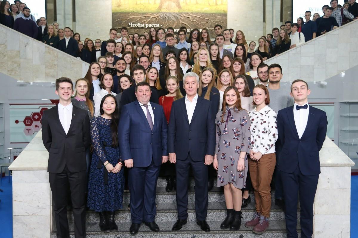 Студенты встретились с мэром Москвы