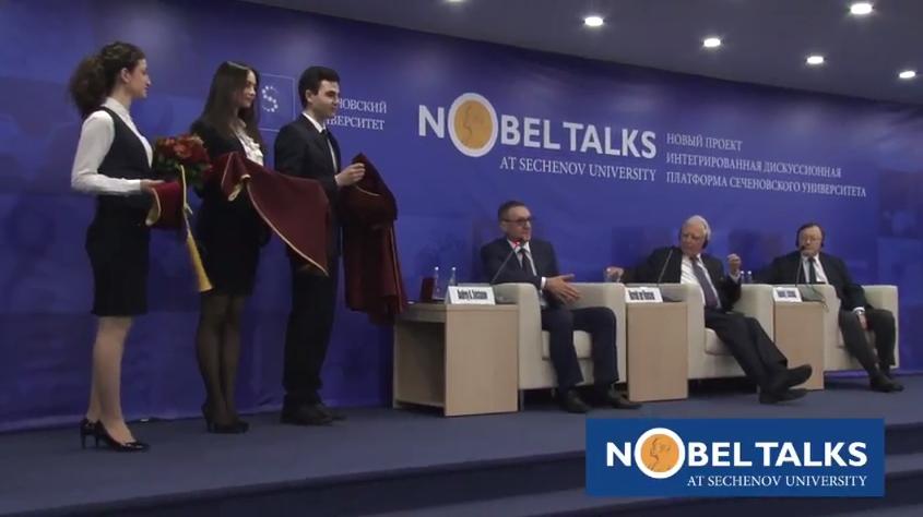 Sechenov University has successfully launched the new international project Nobel Talks@ Sechenov University