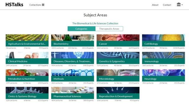 Доступ к 2000 лекций (The Biomedical Life Sciences Collection) на платформе  HSTalks